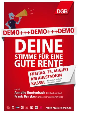 Rentendemo am 25.August in Kassel