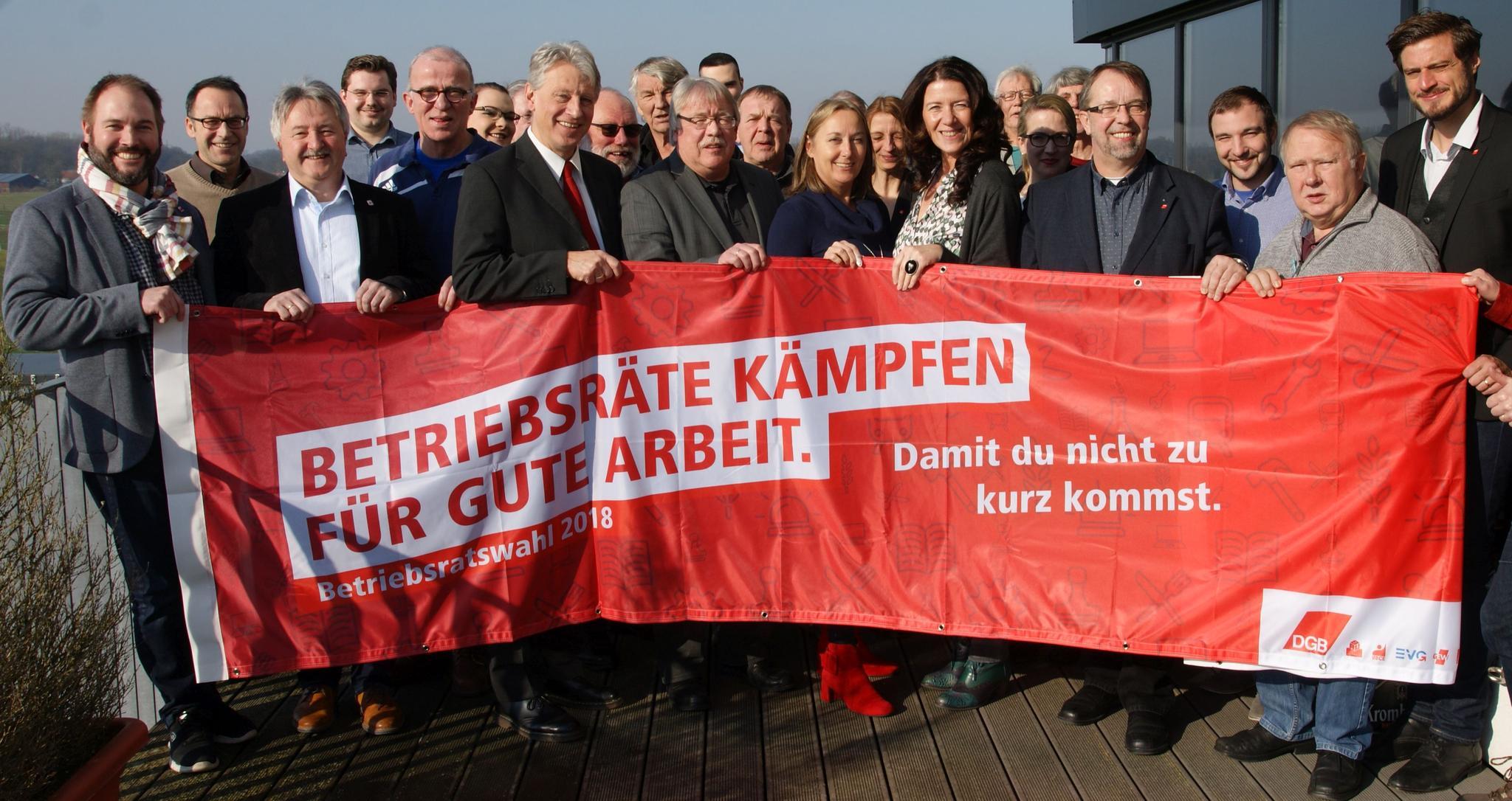 Gewerkschaften im Münsterland werben für die anstehenden Betriebsratswahlen