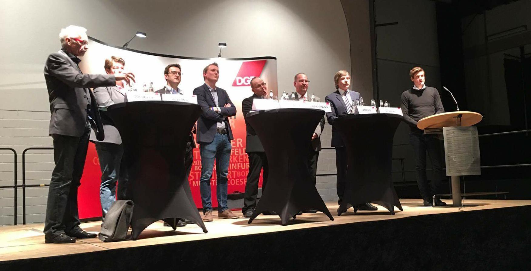 Stellten sich den Fragen aus dem Publikum und von Moderator Volker-Nicolai-Koß: Vertreter aus Politik und Gewerkschaft