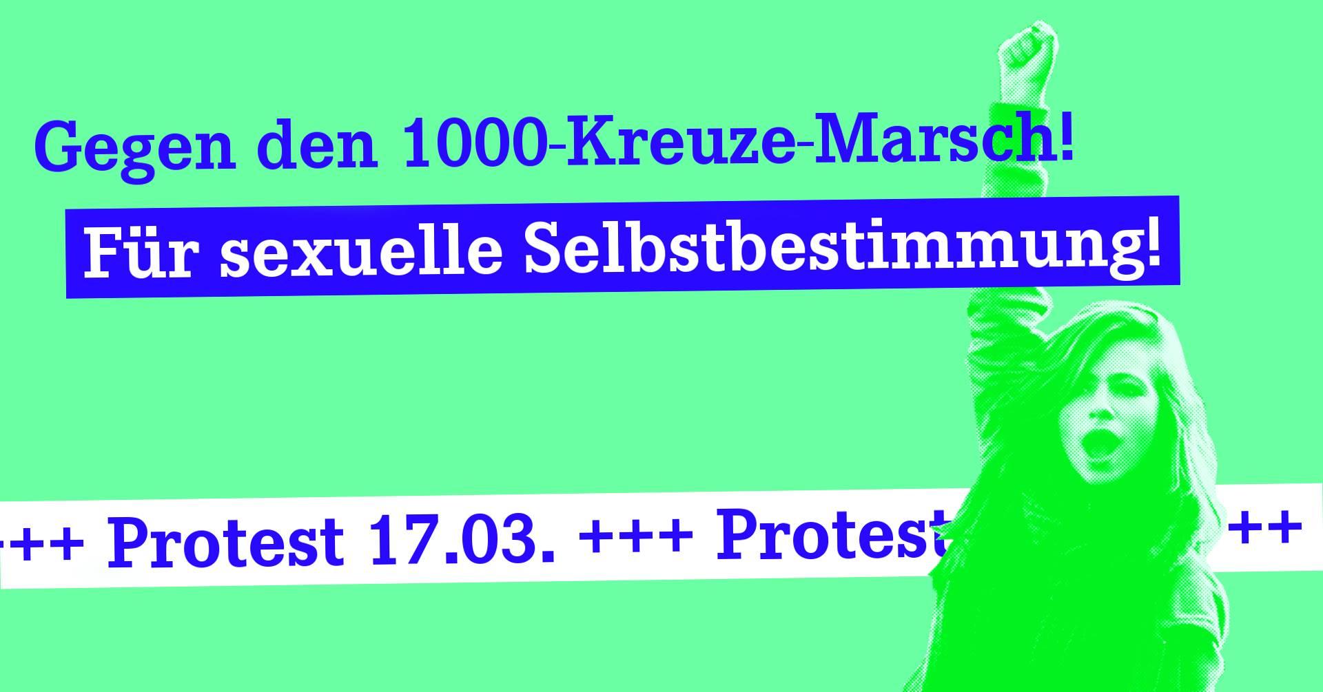 Protest gegen 1000-Kreuze Marsch