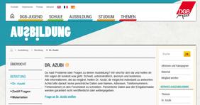 Screenshot www.dr-azubi.de
