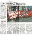 Verbot 1. Mai-Feier in Dülmen